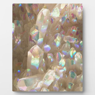 Unicorn Horn Aura Crystals Plaque