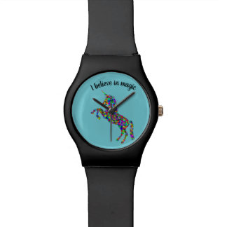 "Unicorn ""I believe in magic"" watch"