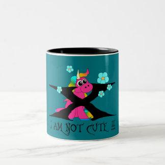 Unicorn - i to emergency cute! Two-Tone coffee mug