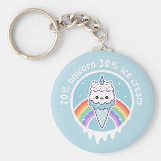 Unicorn Ice Cream Cone Key Ring