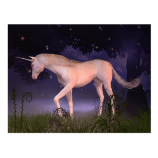 Unicorn in a Misty Forest Glade Postcard