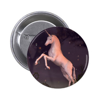 Unicorn in a Moonlit Forest Glade Pin