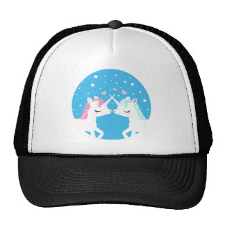 Unicorn in love shirt cap