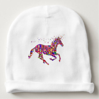 Unicorn in Multi Rainbow Colors Baby Hat Baby Beanie