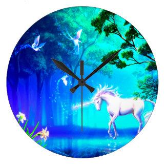 Unicorn In Paradise Large Clock