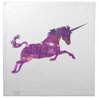 Unicorn in purple napkin