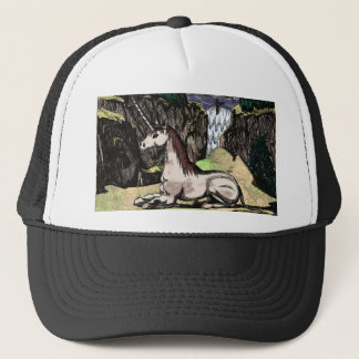"""""""Unicorn in the Mountains"""" colorized Trucker Hat"""