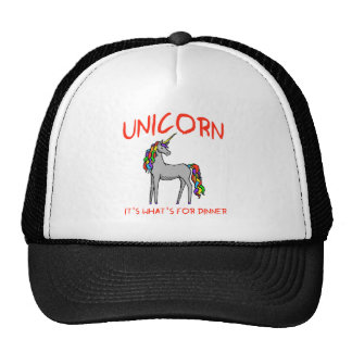 Unicorn It's What's For Dinner Hats