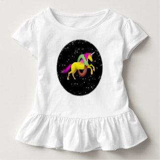 Unicorn Jumping Through a Doughnut Toddler T-Shirt
