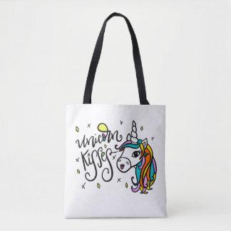 Unicorn Kisses, hand-drawn Tote Bag