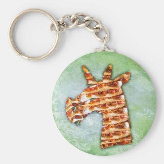 Unicorn Lasagna Key Ring