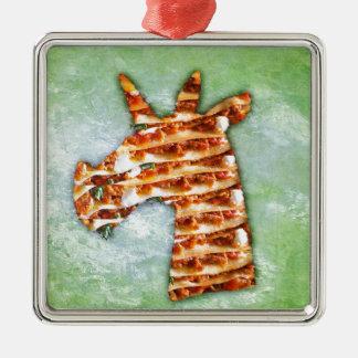 Unicorn Lasagna Metal Ornament