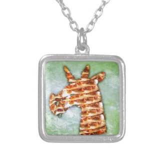 Unicorn Lasagna Silver Plated Necklace