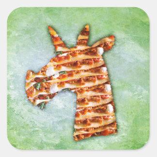Unicorn Lasagna Square Sticker