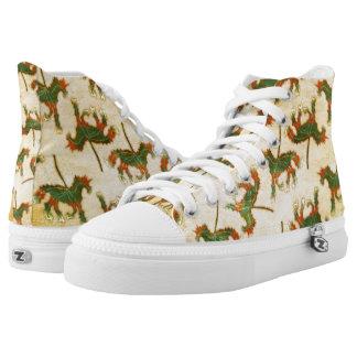 Unicorn Leaf Printed Shoes