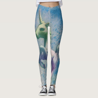 Unicorn Leggings (Blue Arctic)