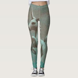 Unicorn Leggings (Teal Steel)