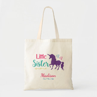 Unicorn Little Sister Colorful Sibling Baby Sister