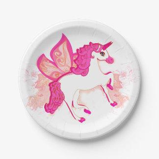 unicorn logo Paper Plate 7 Inch Paper Plate