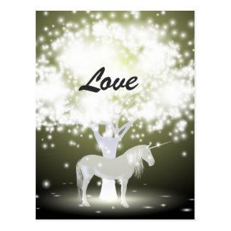 Unicorn Love Mystical Fantasy Postcard