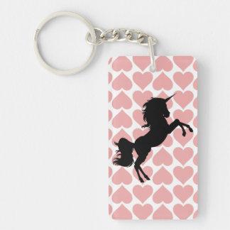 unicorn love pink key chain