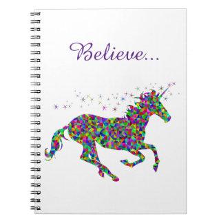Unicorn Magic Believe Colorful Journal