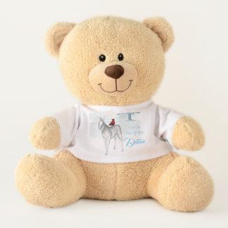 Unicorn magic winter teddy bear
