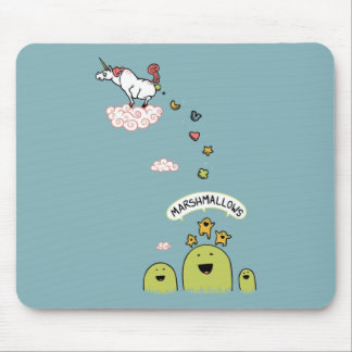 Unicorn Marshmallows Mouse Pad