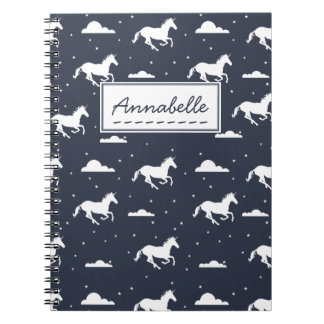 Unicorn Midnight Sky Pattern Notebooks
