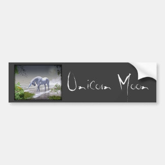 Unicorn Moon Bumper Sticker