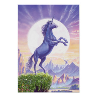 Unicorn Moon Poster