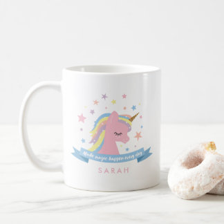 "Unicorn mug - ""Make magic happen every day"""