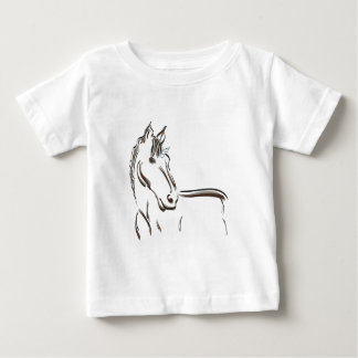 Unicorn mythical creature line drawing baby T-Shirt
