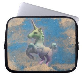 Unicorn Neoprene Laptop Sleeve (Sandy Blue)