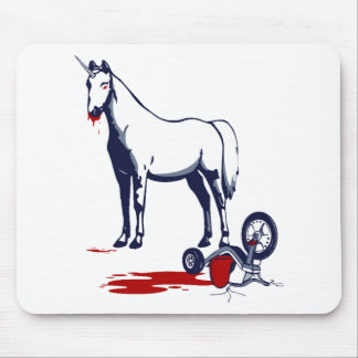 Unicorn of Death Mouse Pads