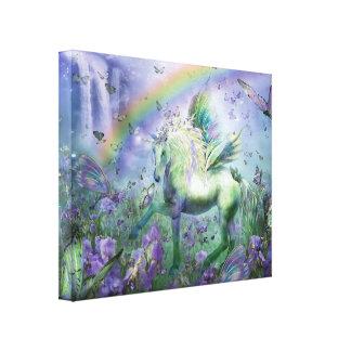 Unicorn Of The Butterflies Fine Art  Canvas Print