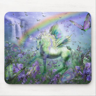 Unicorn Of The Butterflies Mousepad