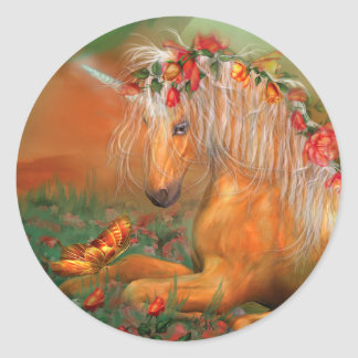 Unicorn Of The Roses Art Sticker