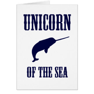 Unicorn of the Sea (Narwhal) Greeting Card