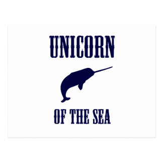 Unicorn of the Sea (Narwhal) Postcards
