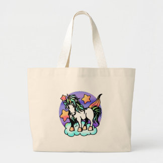 unicorn on a cloud canvas bags