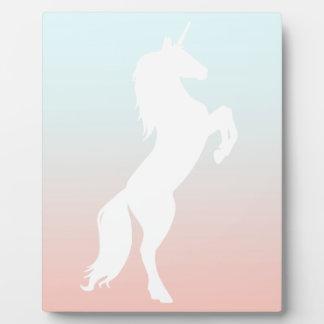 Unicorn on Pastel Plaque