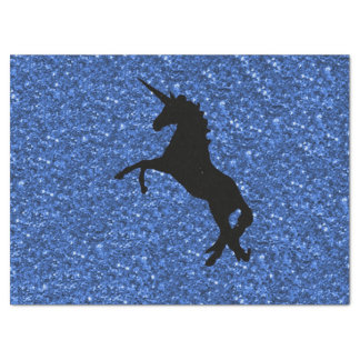Unicorn on sparkling glitter print tissue paper