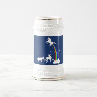 Unicorn origin beer stein