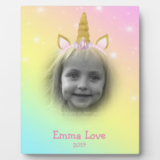 Unicorn Paper Rainbow Headband Photo Template Plaque