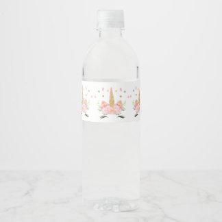 Unicorn Party Water Bottle Label