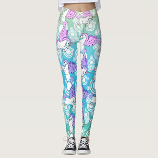 Unicorn Pattern Design Leggings