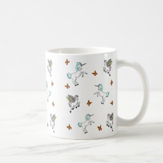 Unicorn Pegasus And Butterflies Mug