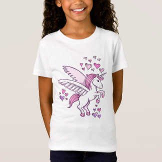 Unicorn Pegasus Hearts  T-Shirt