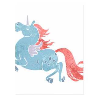Unicorn Pegasus Postcard